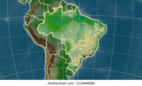 Brazil Physical Map Stock Illustrations Images Vectors Shutterstock