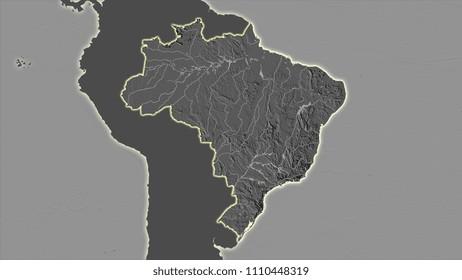 Brazil Topographic Map Images Stock Photos Vectors Shutterstock