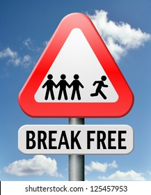 break free from prison pressure or quit job running away towards stress free world