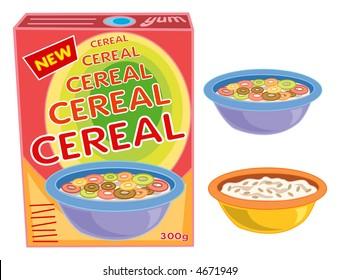 Ilustraciones, imágenes y vectores de stock sobre Colorful Cereal