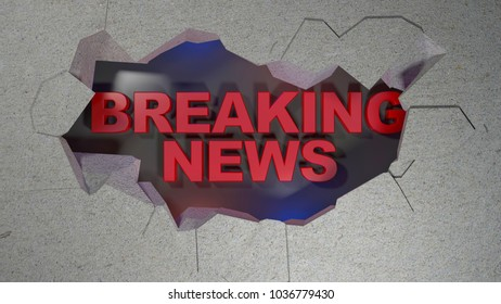 Breaking news 3d illustration text
