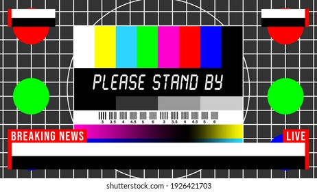 Breaking News Television Test Pattern