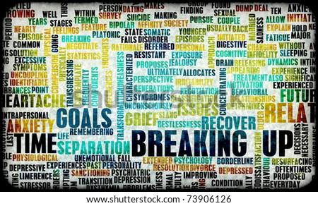 Breaking Ugly Messy Relationship Stock Illustration 73906126