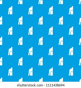 Breast implant surgery. pattern repeat seamless in blue color for any design. geometric illustration