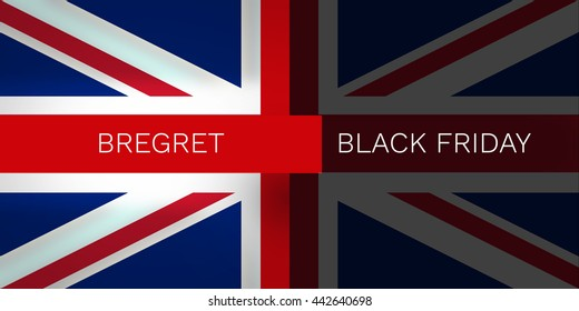 Brexit Bregret United Kingdom Flag Background Design