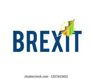 brexit graph sign illustration design over a white background