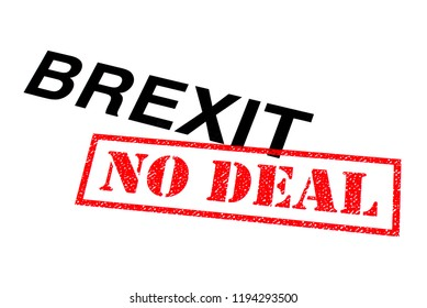 Brexit heading stamped with a red NO DEAL rubber stamp.