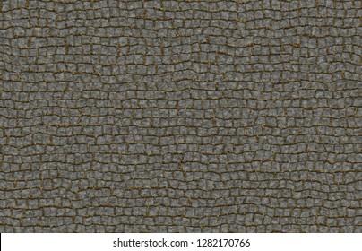 brick stones pavement top view 3d illustration 40x29 cm 300dpi