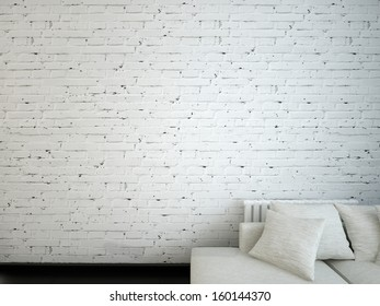 brick wall in room