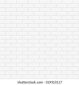 Brick wall texture. White seamless background.