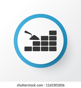 Bricklaying icon symbol. Premium quality isolated brickwork element in trendy style.