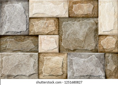 Bricks Stone wall elevation for backgrounds