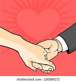 Bride and groom hands (raster version)