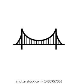 Bridge icon illustration isolated sign symbol