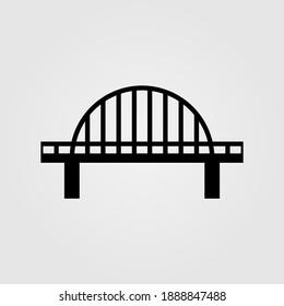 Bridge icon illustration. Logo design element.