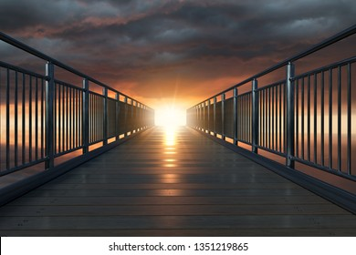 Bridge into the light (3D Rendering)