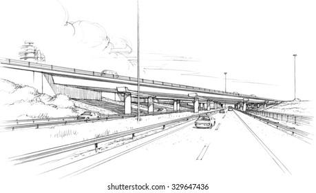 bridge over Highway