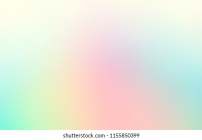 Brigh pink, blue, yellow empty background. Light blurred illustration. Spectral abstract pattern. Pale rainbow ombre texture. Fantasy defocused template.
