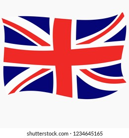 Bright abstract background with flag of England. Bright illustration with flag. Happy England day background. Illustration with white background.