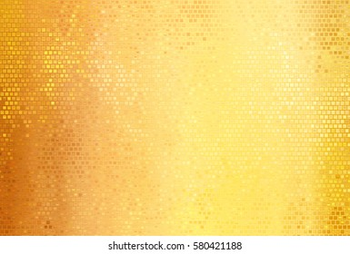 Bright abstract mosaic golden background with gloss. illustration beautiful.