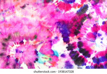 Bright Aquarelle Textile Concept. Bright Acrylic Splattered Pattern. Tie Dye Grunge Banner. Watercolor Painting Ink Art. Distressed Dyed Background. Bright African Decoration Poster.