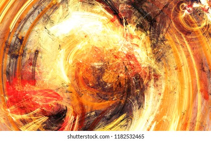 Bright artistic splashes. Abstract painting color texture. Modern futuristic pattern. Shiny dynamic background. Fractal artwork for creative graphic design