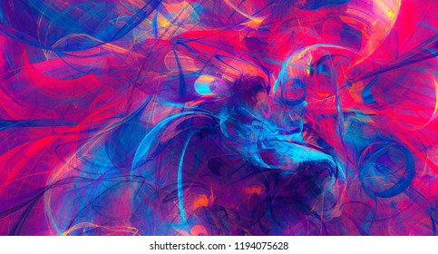 Helle künstlerische Splash. Abstrakte Farbtextur. Modernes futuristisches Muster. Dynamischer, heller mehrfarbiger Hintergrund. Fractal-Kunstwerke für kreatives Grafikdesign