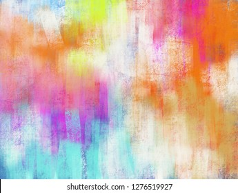 Bright beautiful pastel color texture of brush stroke abstract background paint like graphic illustration
