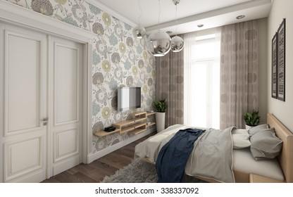 Bedroom Wallpaper Images Stock Photos Vectors Shutterstock