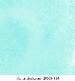 bright blue green background, vintage color and sponged distressed texture in soft blended brush strokes