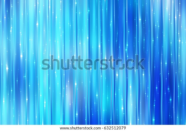 Bright blue illustration with abstract shiny background with stars.