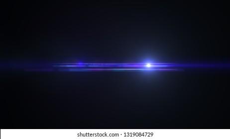 bright blue lensflare