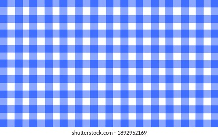Bright blue white purple checkered background. Space for graphic design. Checkered texture. Classic checkered geometric pattern. Traditional ornament made of colored square elements.