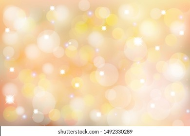 Bright bokeh background with light