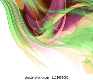 Bright colored and white modern futuristic background with abstract waves