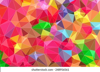 bright colors background low poly technique illustration