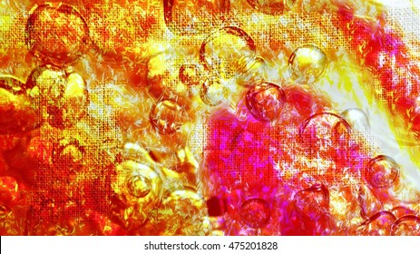 Bright colourful modern textured abstract background with bubbles
