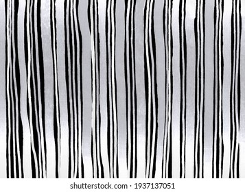bright design background abstract vertical stripes lines paper pattern gray, white black monochrome grunge ethnic style waves geometric handmade material illustration