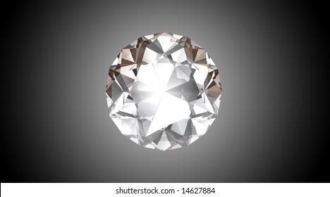 Bright Diamond - 3D Illustration