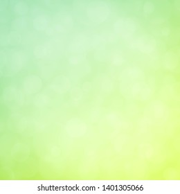 Bright dramatic lime green and sky background bokeh light