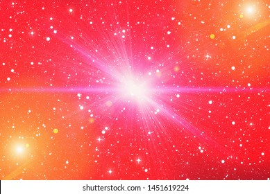 bright flash rays on a space backgrounds. illustration