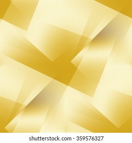 bright gold background abstract shapes grid texture seamless pattern