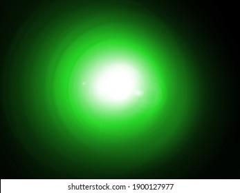 Bright green spotlight glare god super power miracle sun fantasy nature background