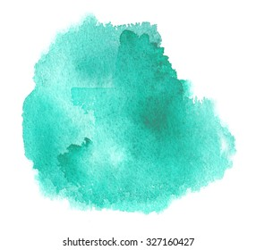 Bright green watercolour stain with watercolor blotchiness