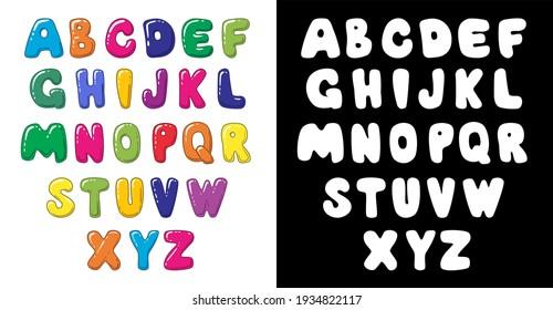 Bright Hand Drawn Cartoon Letters