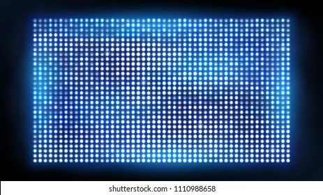 Bright led projection screen. Cinema and entertainment display. Vivid bright spotlight for concert, shine projection illustration