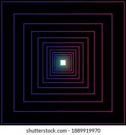 bright line frames in dark background 3d rendering