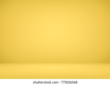 Bright luxury yellow background well use as product backdrop.