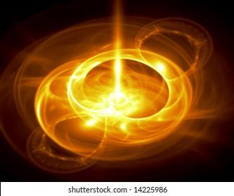 Bright Molten Gold - fractal illustration