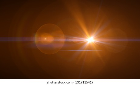 bright orange lensflare